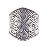 Tabra Sterling Embossed Cuff Ring
