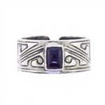 Tabra Amethyst Aztec Rectangle Ring