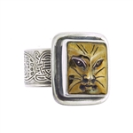 Tabra Bronze Cat Face Ring