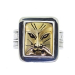 Tabra Bronze Cat Ring Set in Silver