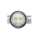 Tabra Bone Moon God Adjustable Ring