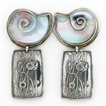 Tabra Mother of Pearl, Sterling & Topaz Earrings