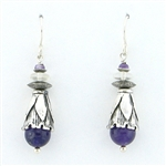 Tabra Amethyst & Silver Wire Earrings