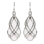 Tomas Layered Teardrop Silver Hook Earrings