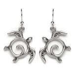 Tomas Sea Turtle Silver Hook Earrings