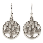 Tomas Tree of Life Silver Hook Earrings