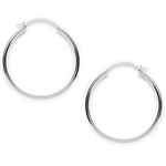 Tomas Silver Hoops Pin and Catch Earrings-1-3/4 Inch