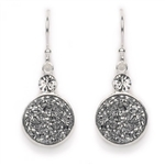 Tomas Druzy Hook Earrings - Silver