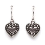 Tomas Heart Silver Dangle Earrings
