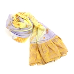 Two's Company Tie Dye Scarf Purple & Yellow