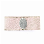 "KBD 1 1/4"" Cuff Pink Leather - Love"