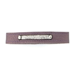 KBD Stacker Cuff Pave Deco Bar on Purple