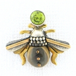 Zealandia Designs Honey Bee Peridot Pendant