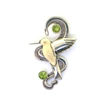 Zealandia Designs Hummingbird in Flight Pendant with Peridot