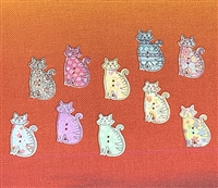 Colorful Cat Buttons