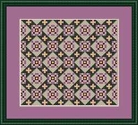 Miniature Quilts: Path of Violets