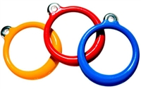 Trapeze Bar Round Rings with Plastisol Coating