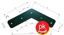 L-Bracket  8 inch Green( Pack of 2 ) 120°