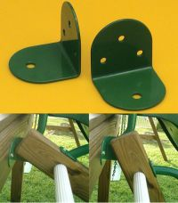 L bracket steel Green 75 mm X 2