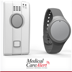 GPS Medical Alert System With Wearable Button- HOME & AWAY DUO