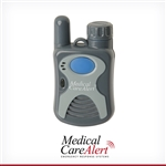 Medical alert system with extended range for use at home and yard includes 2-way speaker pendant, 24/7 EMT-certified monitoring with annual billing.