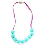 Juniorbeads Madison Jr. 100% Silicone Glow in the Dark Beaded Necklace