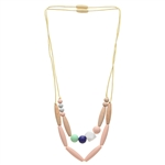 Chewbeads Metropolitan 100% Silicone & Wood Teething Necklace