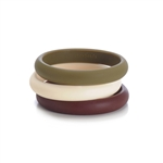 Skinny Charles Bangle - Chocolate Brown