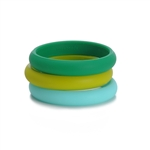 Skinny Charles Bangle - Emerald Green
