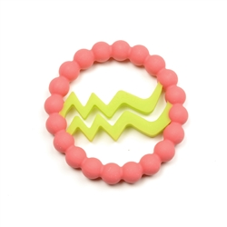 Chewbeads Baby Zodies Teether Refill - Aquarius Pink (Pack of 2)