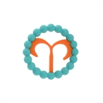 Chewbeads Baby Zodies Teether Refill - Aries Turquoise (Pack of 2)