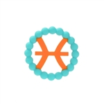 Chewbeads Baby Zodies Teether Refill - Pisces Turquoise (Pack of 2)