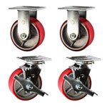 5 Inch Toolbox Casters with precision bearings