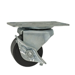 polyolefin wheel low profile caster with  brake