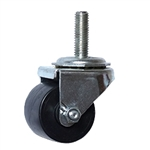 threaded stem polyolefin wheel low profile business machine caster