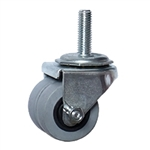 threaded stem low profile caster