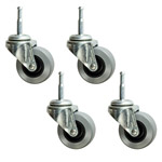 Polyurethane Tread Furniture Casters