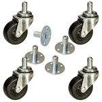 soft tread amplifier casters with sockets