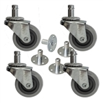 High quality set of amp casters with sockets