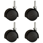 Pacer  Floor Safe Casters with Threaded  Stem