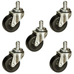 Soft Rubber Tread Furniture Casters
