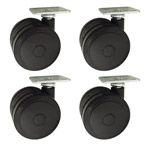 softech hardwood floor safe casters with top plate