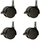 nylon chair casters with brake