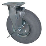 "8"" Swivel Gray Pneumatic Cart Caster"