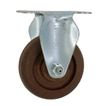 "3-1/2"" High Temperature Rigid Caster Glass Filled Nylon Wheel"