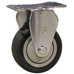 "4"" Rigid Caster with Thermoplastic Rubber Tread"