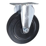 Rigid Caster with Hard Rubber Wheel