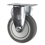 "5"" Rigid Caster with Thermoplastic Rubber Tread"
