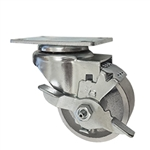 "3""  Swivel Caster with semi steel cast Wheel and brake"