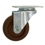 "3-1/2"" High Temperature Swivel Caster Glass Filled Nylon Wheel"
